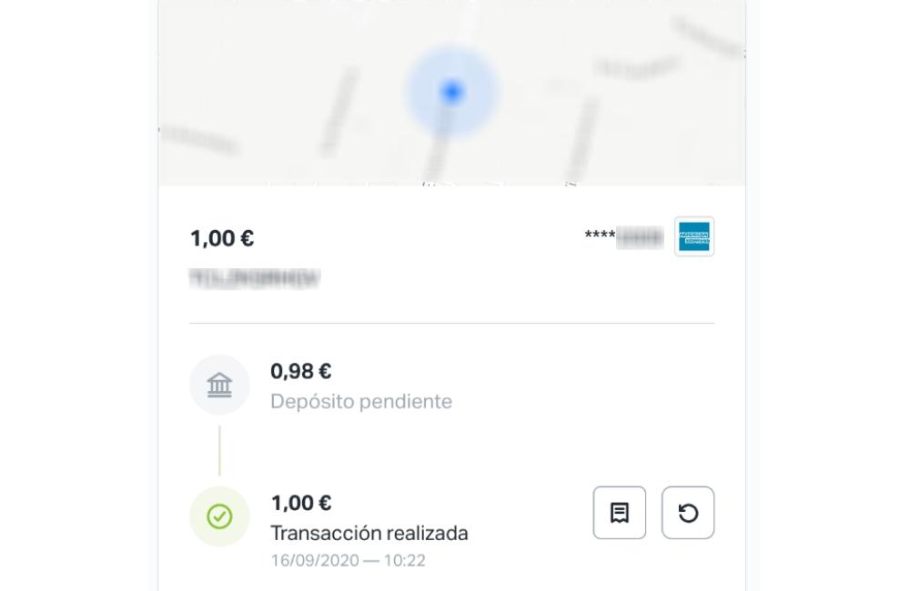 Transacción con el TPV virtual de SumUp