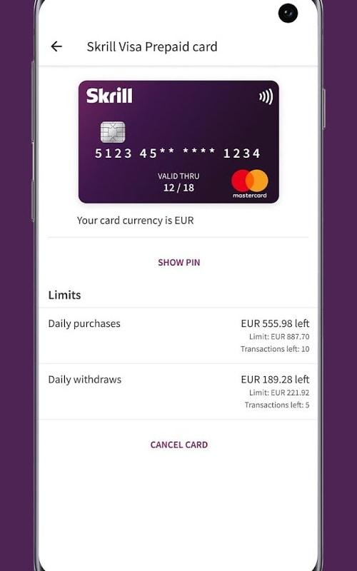 La tarjeta es gestionada por la app