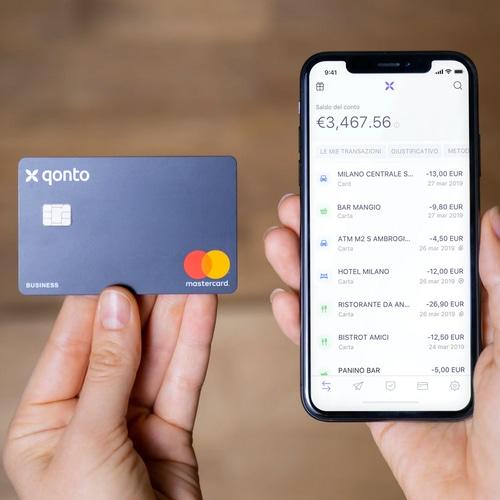 Los pagos realizados con tarjetas Qonto aparecen en tiempo real en la app del administrador.
