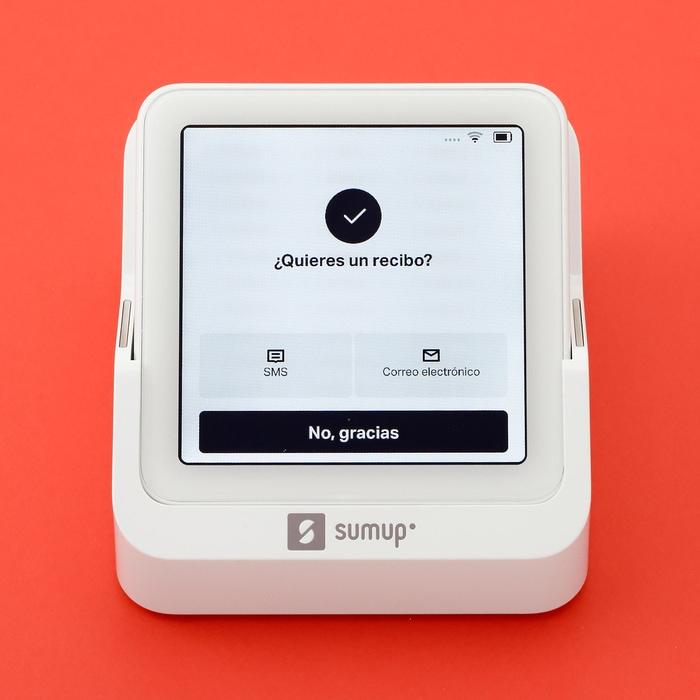 SumUp Solo envía recibos digitales