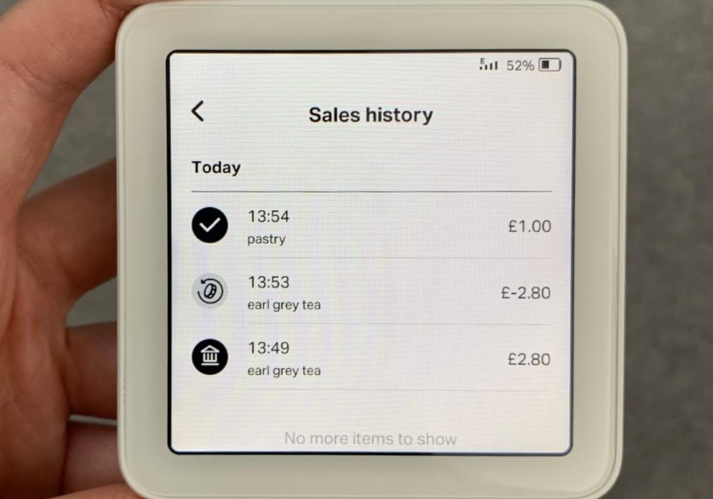 Historial de ventas